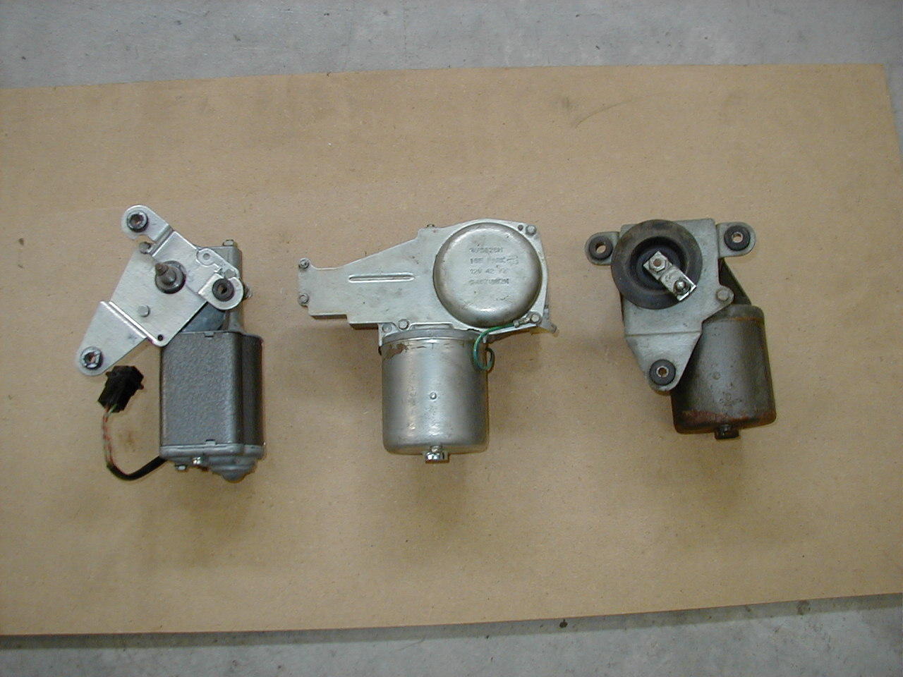 different types of wiper motors as used in the history of the wiper system